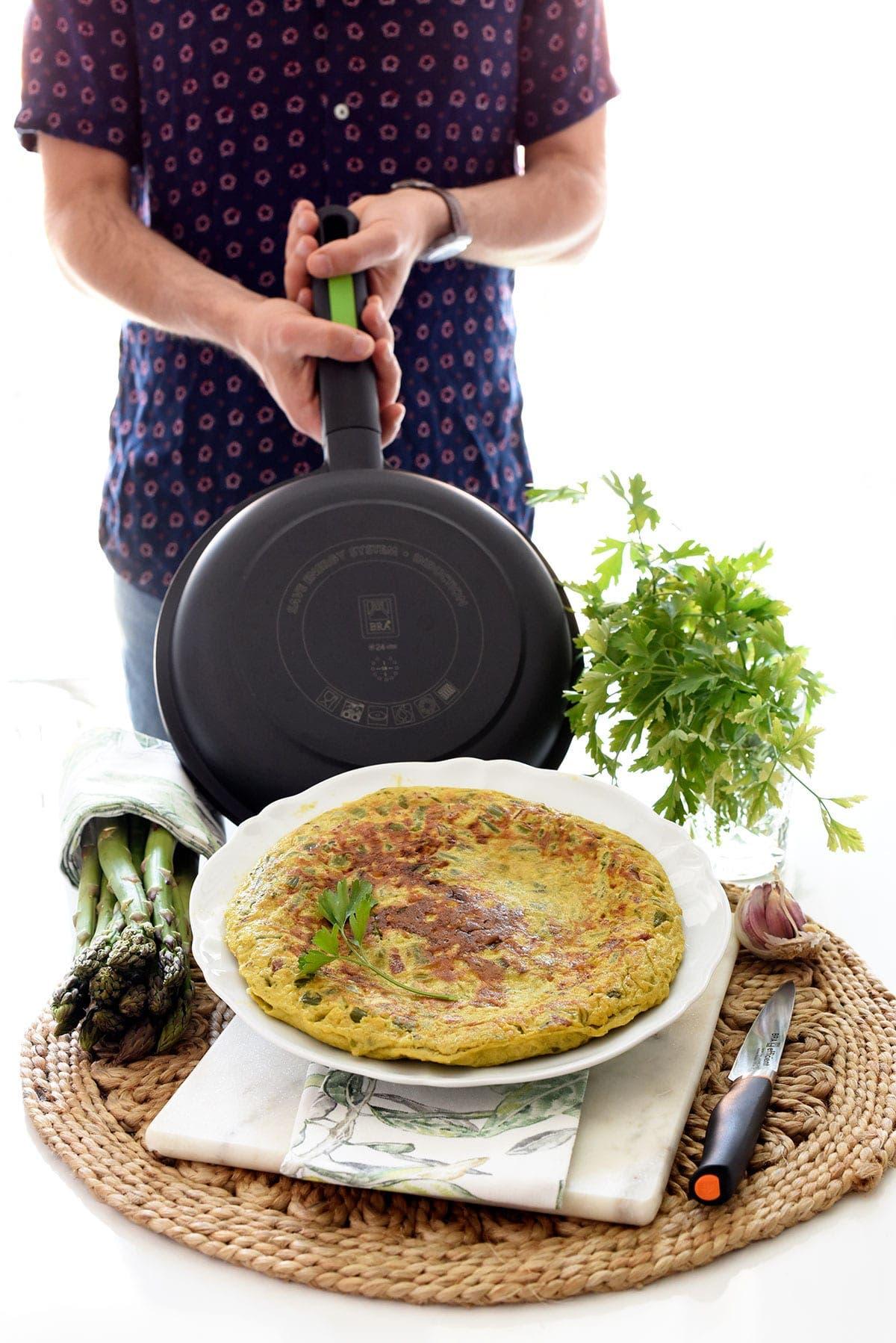 tortilla de esparragos para dieta