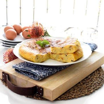 Tortilla de patatas con trufa